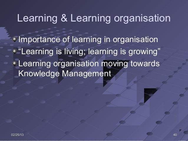 leadership towards learning organisation I analyze corporate hr, talent management and leadership full bio → 5 keys to building a learning organization.