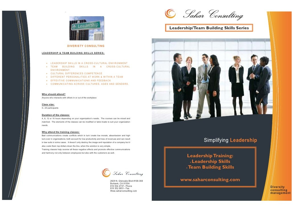 Leadership Team Building Course Brochure