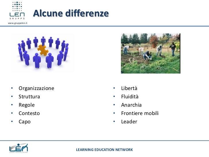 Alcune differenzewww.gruppolen.it  •     Organizzazione                      •   Libertà  •     Struttura                 ...