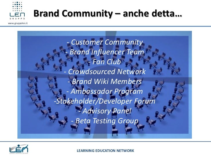 Brand Community – anche detta…www.gruppolen.it                            - Customer Community                           -...