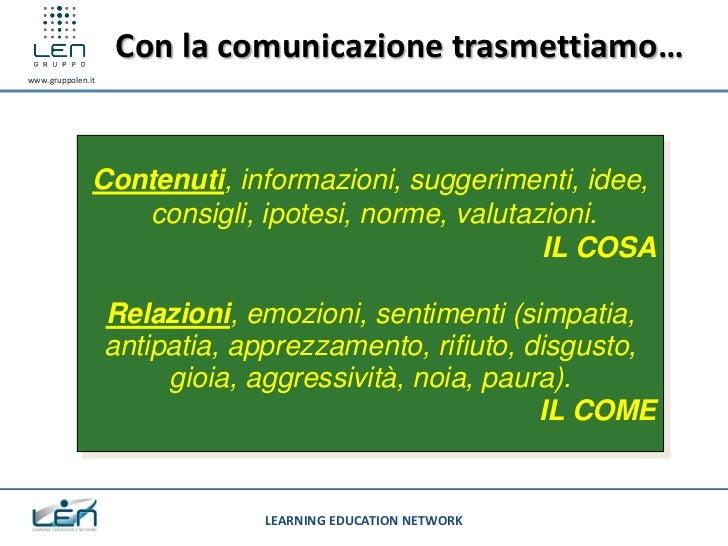 Con la comunicazione trasmettiamo…www.gruppolen.it               Contenuti, informazioni, suggerimenti, idee,             ...