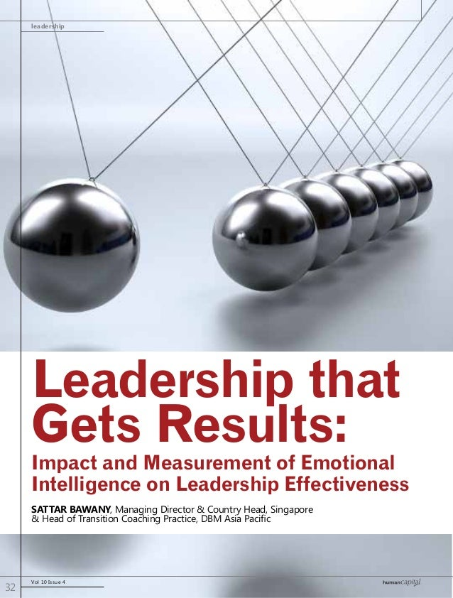 leadership Vol 10 Issue 4 32 Leadership that Gets Results: Sattar Bawany, Managing Director & Country Head, Singapore & He...