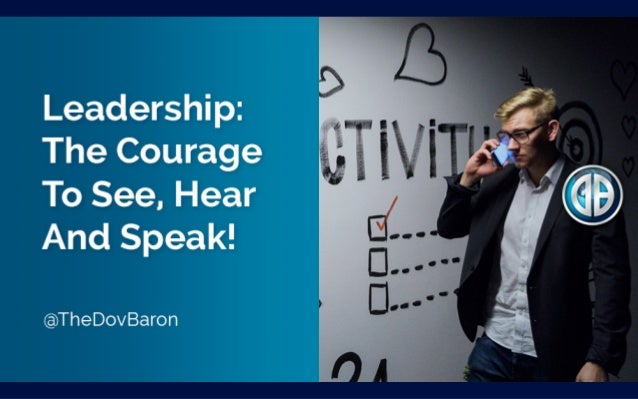 We must be willing to listen to what we don't want to hear @TheDovBaron