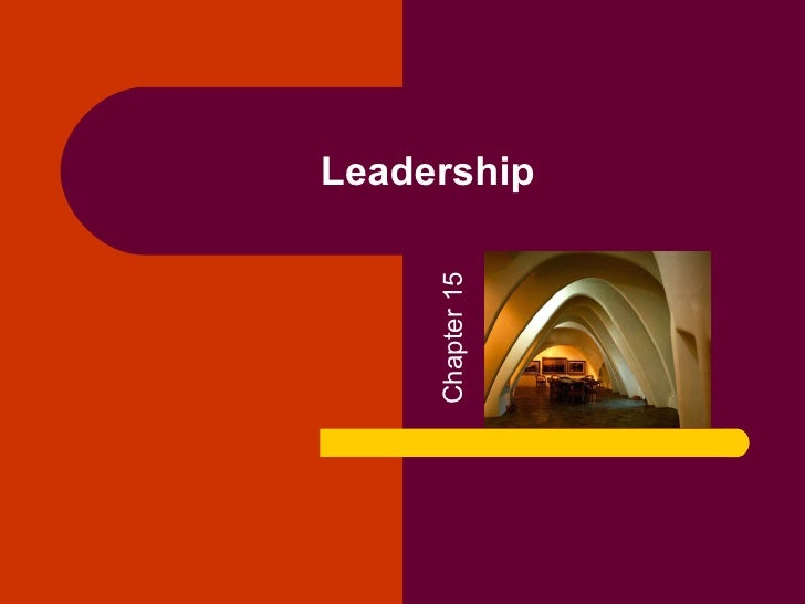 Leadership Chapter 15