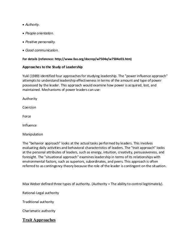 Definition Essay – The Meaning of Charisma Essay Sample