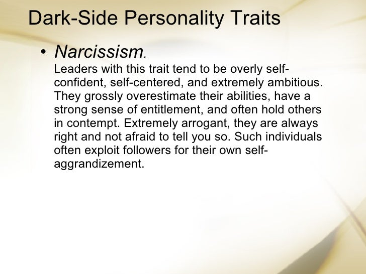 Arrogant personality traits