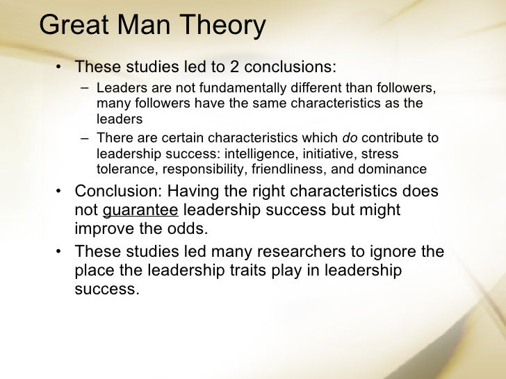 leadership do traits matter essay The study of leader traits has a long and controversial history while research shows that the possession of certain traits alone does not guarantee leadership success, there is evidence that effective leaders are different from other people in certain key respects.
