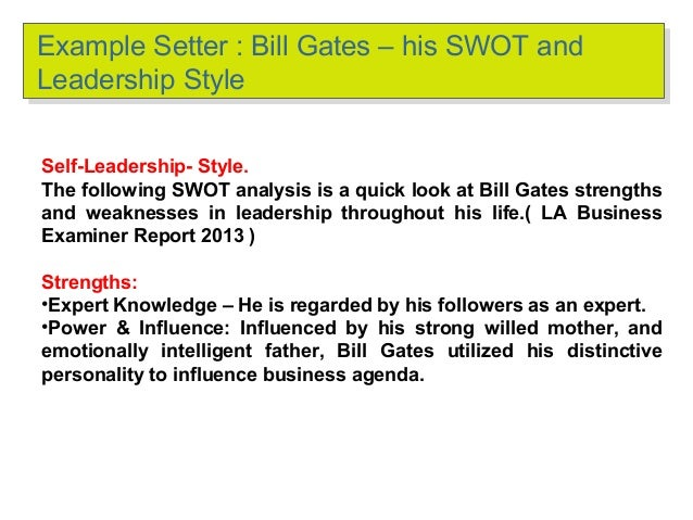 bill gates leader report Bill & melinda gates foundation  under the direction of bill and melinda gates and warren buffett  we do not require them to report on all of their activities.