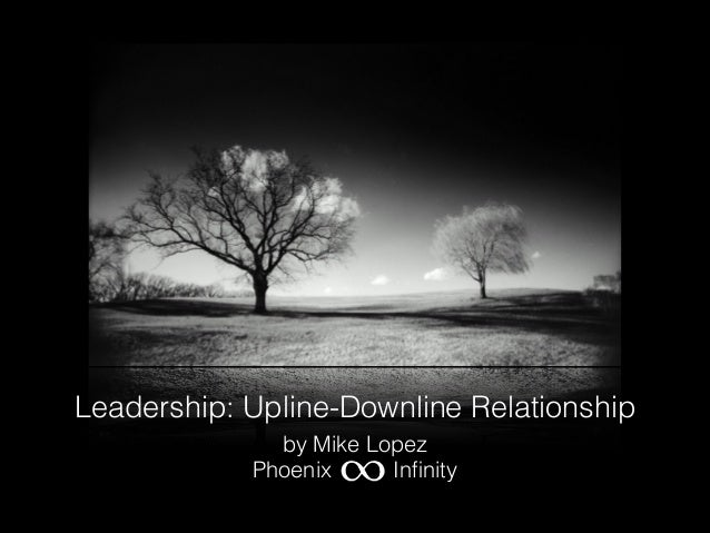 Leadership: Upline-Downline Relationship by Mike Lopez Phoenix Infinity
