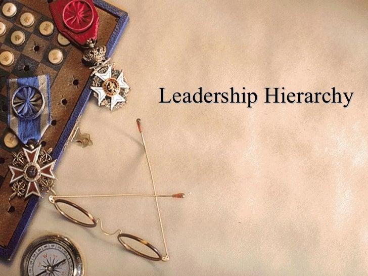 Leadership Hierarchy
