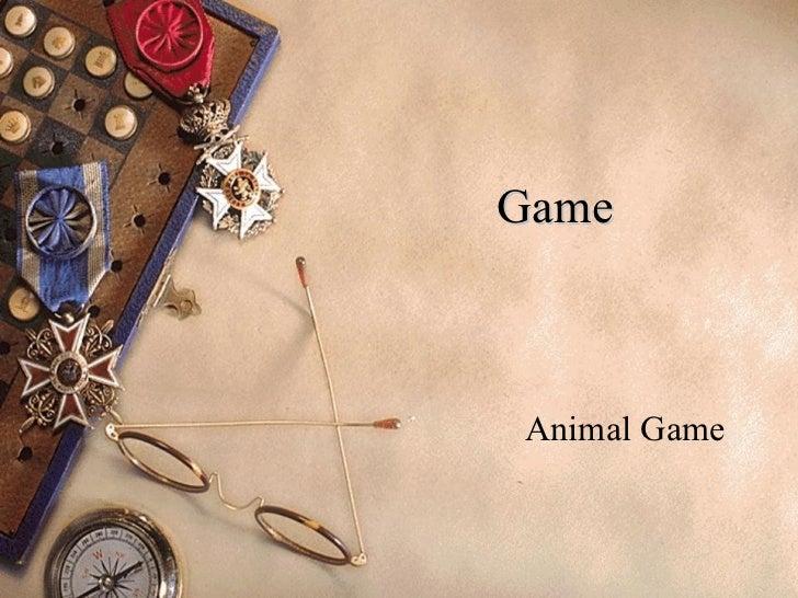 Game Animal Game