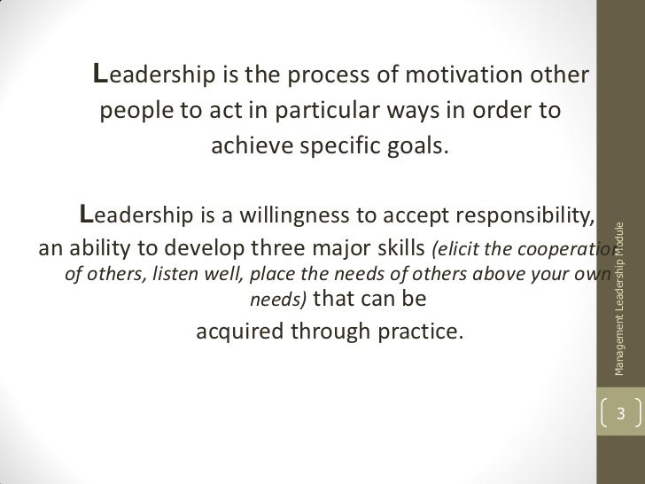 Leadership vs. management Slide 3