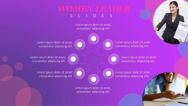 Women leadership powerpoint template free download toneelgroepblik Gallery