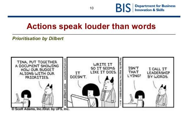 Your Actions Speak Louder Than Words: Leadership Workshop Presentation Tera Allas January 2014