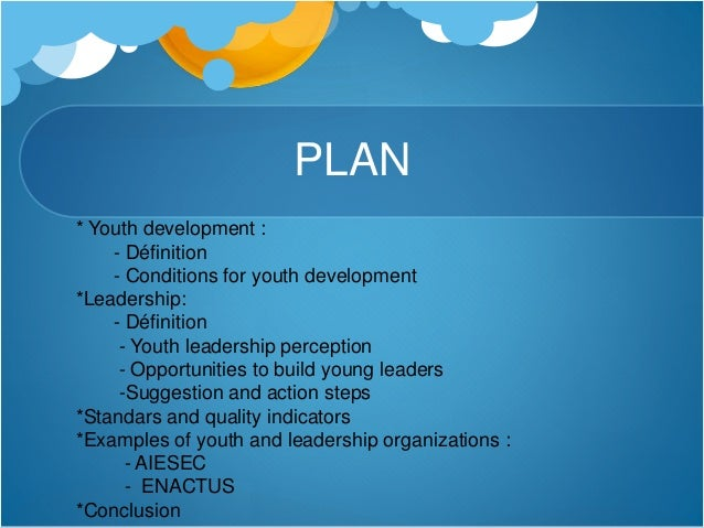 Leadership & youth development Slide 2