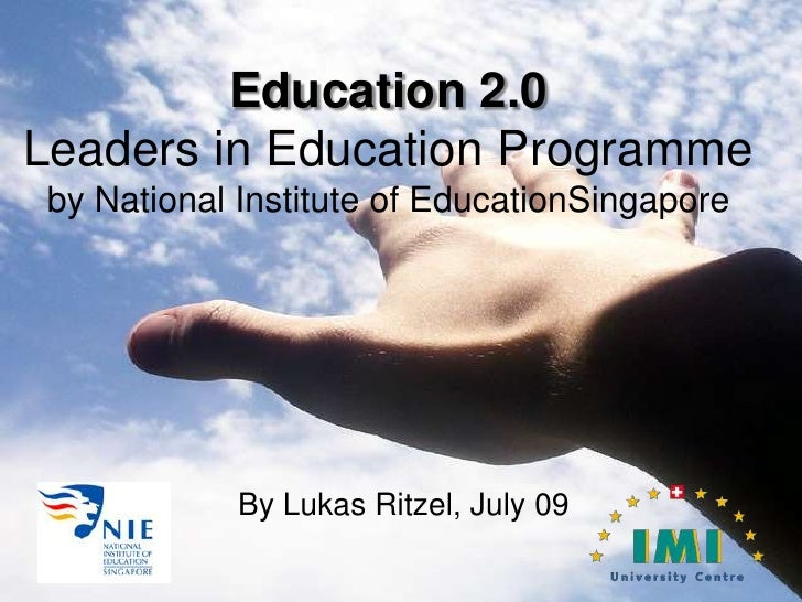 Education2.0 or Education and Web2.0
