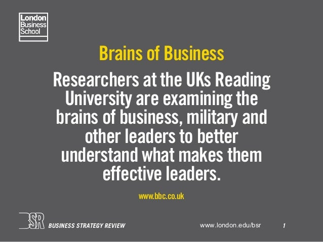 Leadership statistics – London Business School BSR Slide 2