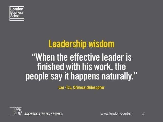 Leadership statistics – London Business School BSR Slide 3