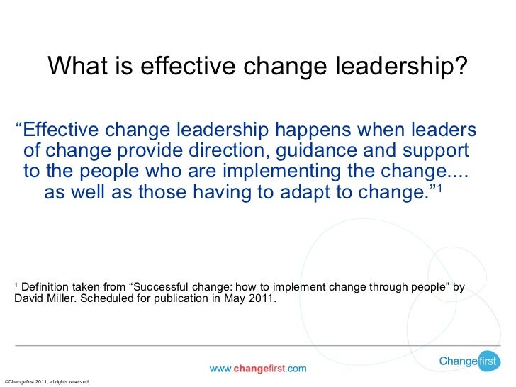 Building Effective Change Leadership