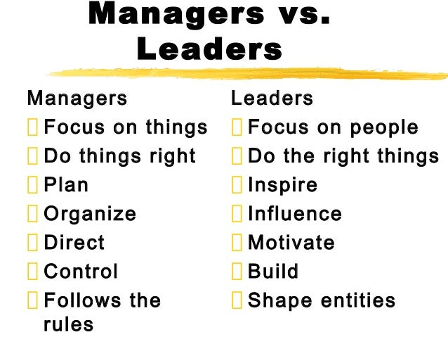 Image result for leader versus manager