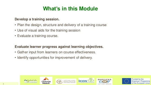 Training Design, Delivery and Evaluation - Training of trainers - LeadFarm Project Slide 3