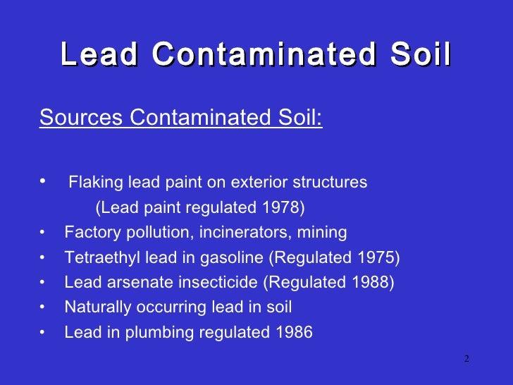 Lead soil field test presentation  Slide 2