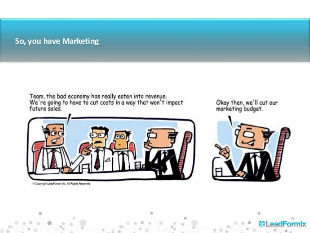 1 So, you have Marketing