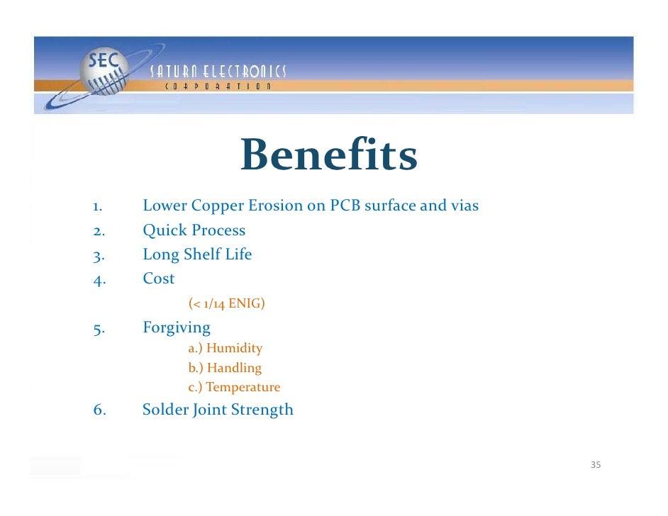 Benefits 1.     LowerCopperErosiononPCBsurfaceandvias 2.     QuickProcess        Q i kP 3.     LongShelfLife 4....