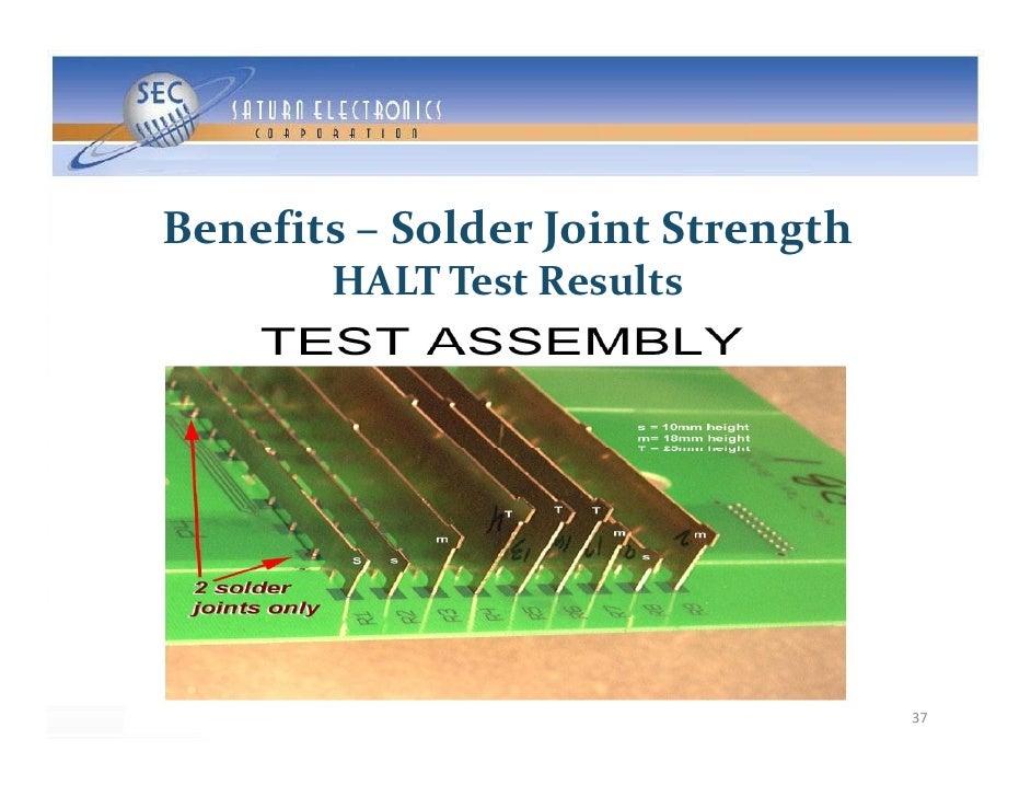 Benefits– SolderJointStrength                   J          g        HALTTestResults                                  ...