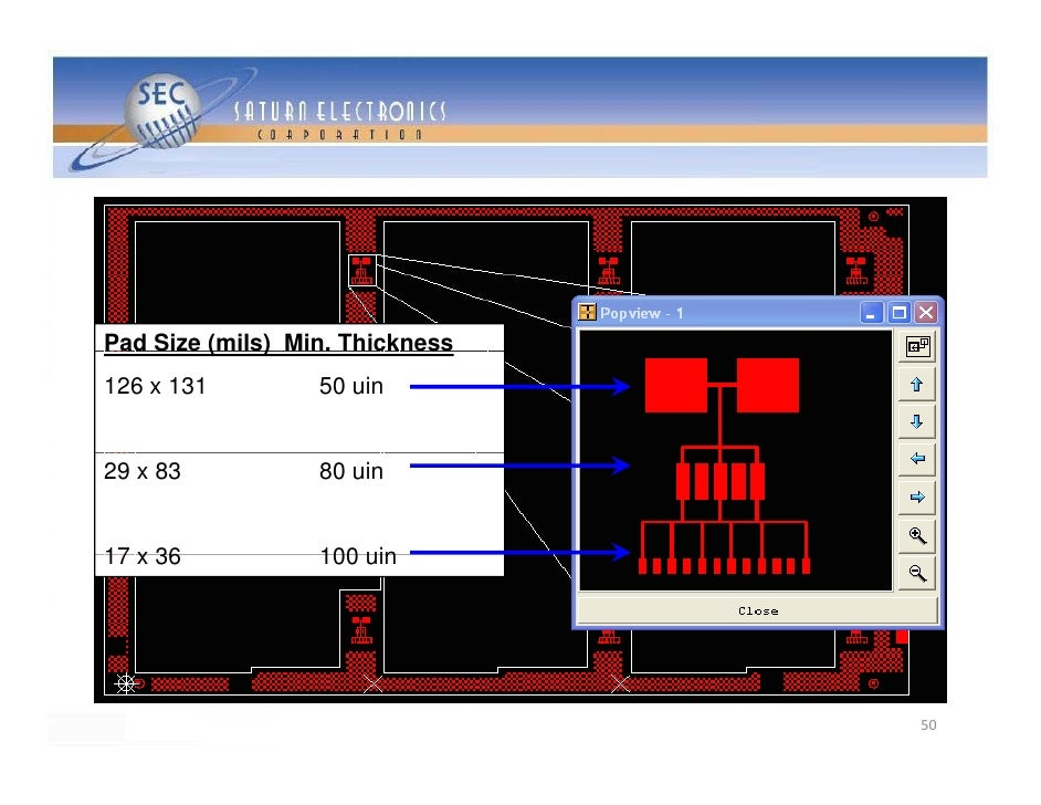 Pad Size ( s) Min. Thickness  ad S e (mils)        c ess 126 x 131        50 uin   29 x 83          80 uin   17 x 36      ...