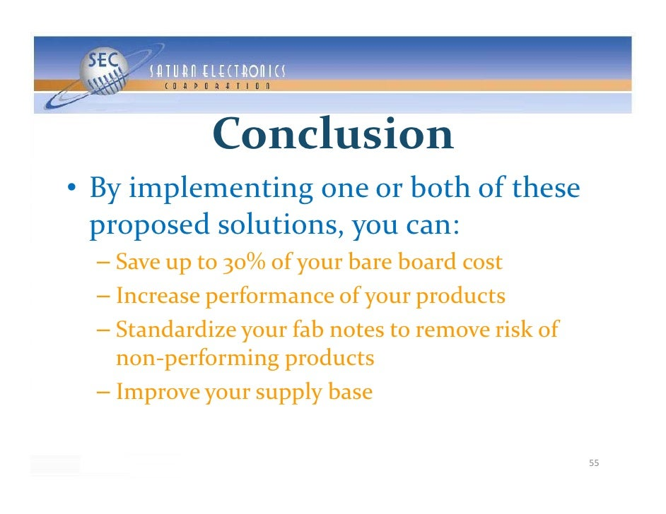 Conclusion • Byimplementingoneorbothofthese   proposedsolutions,youcan:   proposedsolutions youcan:   – Save...