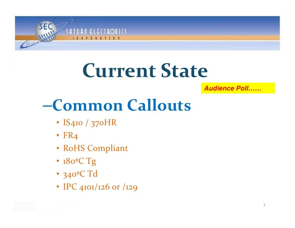 CurrentState                             Audience Poll……   C     C ll –CommonCallouts  •   IS410/370HR  •   FR4  •   ...