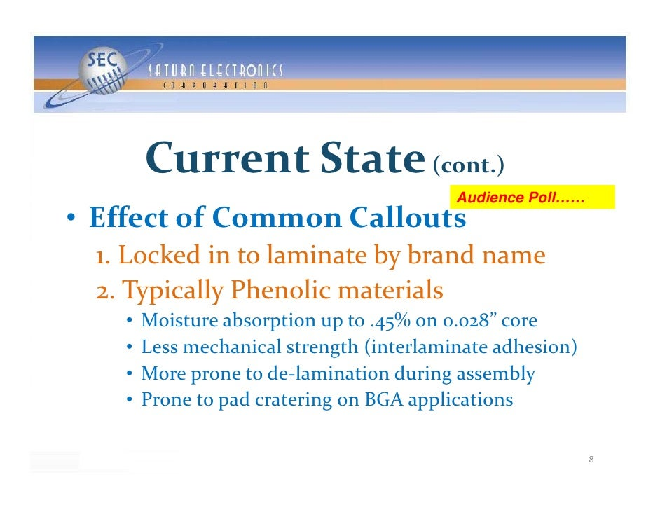 CurrentState ( )                       (cont.)                                            Audience Poll…… • EffectofCom...