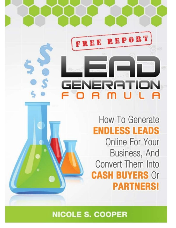 "Yes, Feel Free To Share This Report!!                    ""Online Lead Generation Formula!""©Nicole S. Cooper of www.MLMPLRS..."