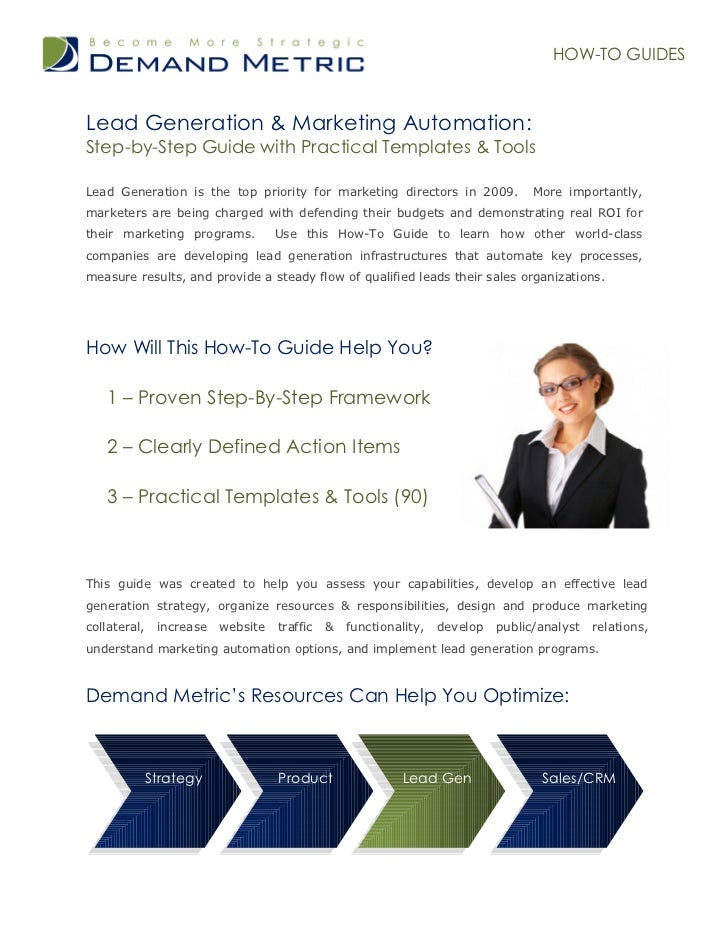 HOW-TO GUIDESLead Generation & Marketing Automation:Step-by-Step Guide with Practical Templates & ToolsLead Generation is ...