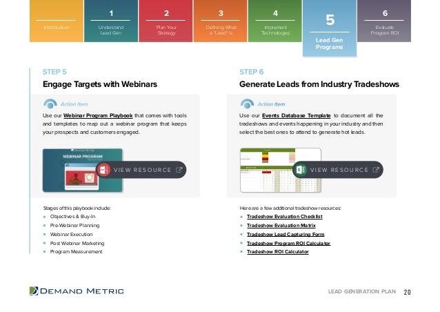 Lead Generation Playbook - Lead generation website template