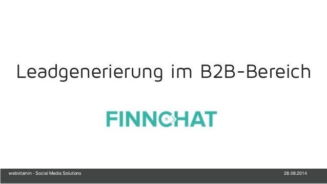 28.08.2014webvitamin - Social Media Solutions Leadgenerierung im B2B-Bereich