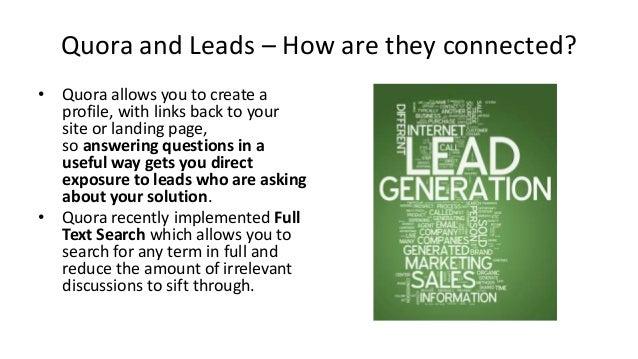 Lead Generation (Inbound) through Quora Slide 3