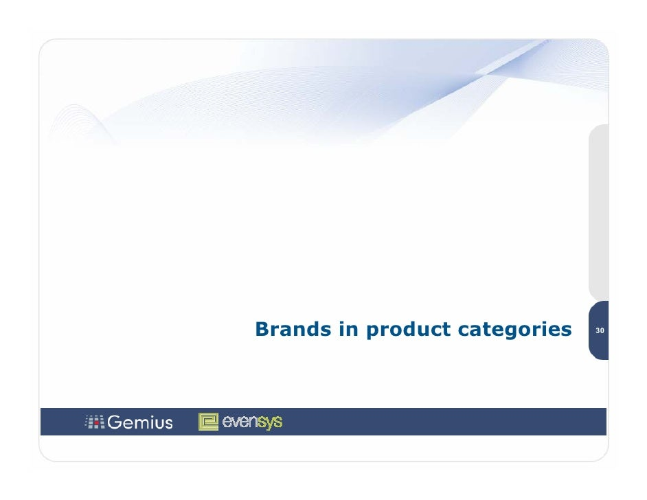 Brands in product categories   30