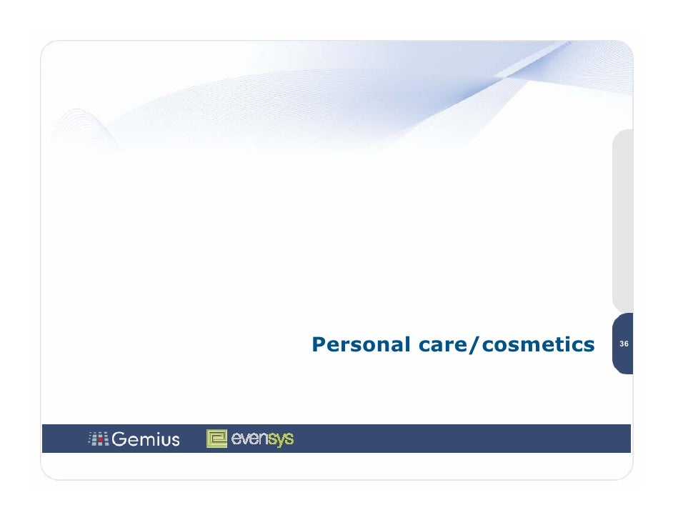 Personal care/cosmetics   36