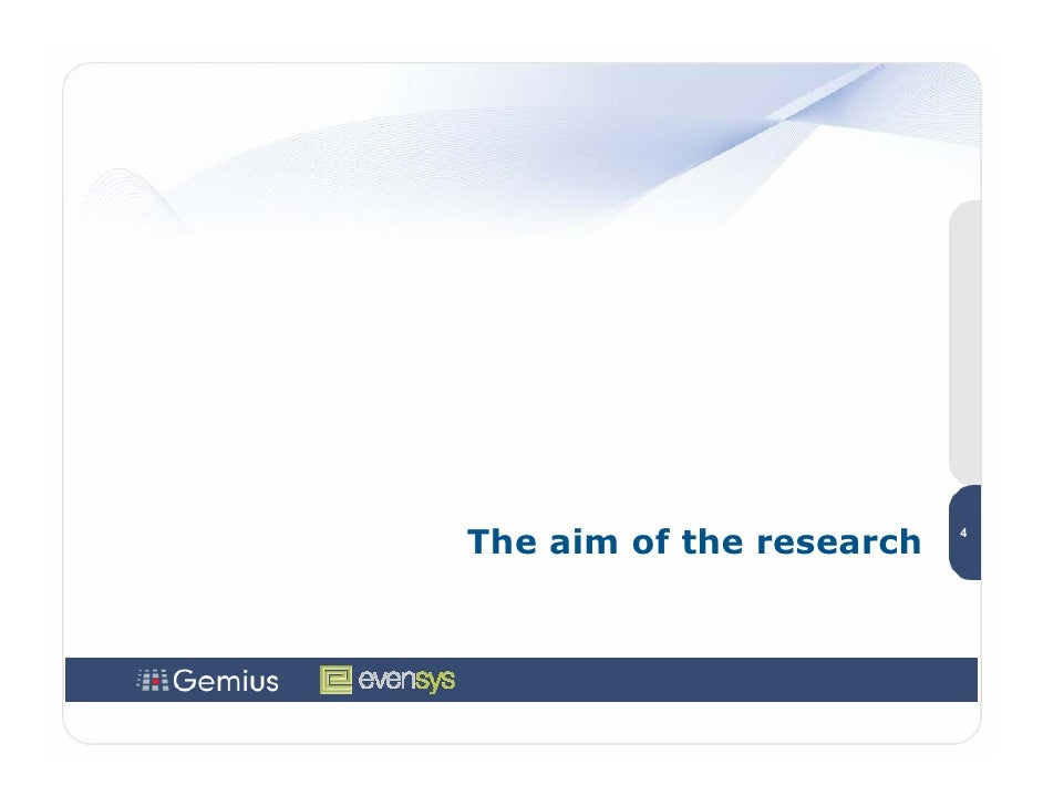 The aim of the research   4