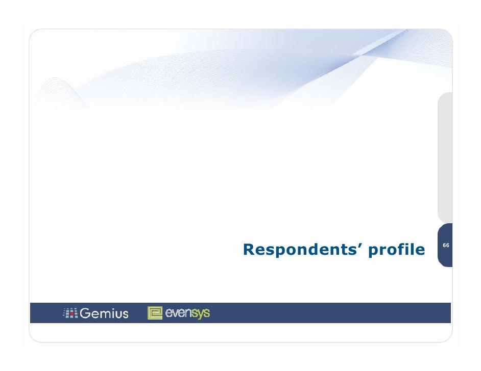 Respondents' profile   66