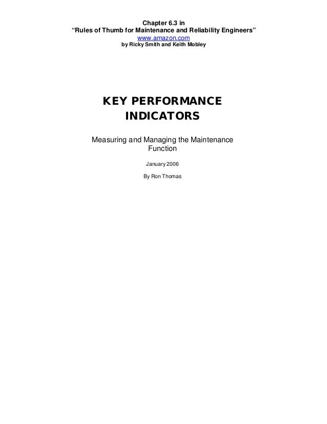 """Chapter 6.3 in""""Rules of Thumb for Maintenance and Reliability Engineers""""                    www.amazon.com               b..."""