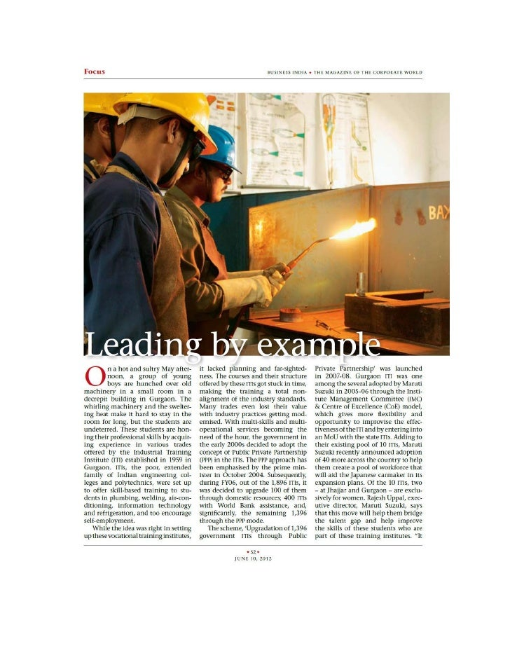 Business India (June) features RAGC on 'Leading by Example'