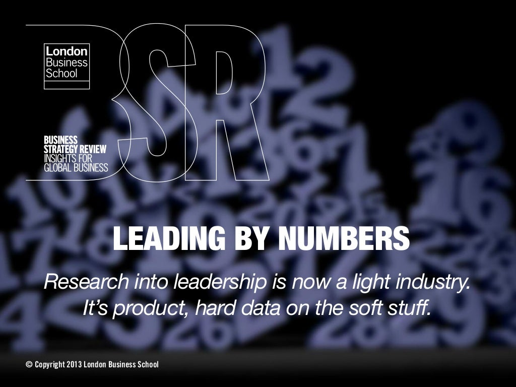 Leading by numbers - Business Strategy Review