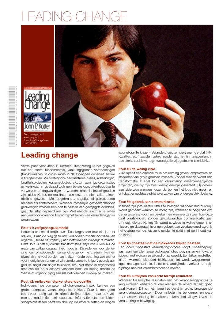 Management summary door karel van Wijngaarden                                                LEADING CHANGE               ...