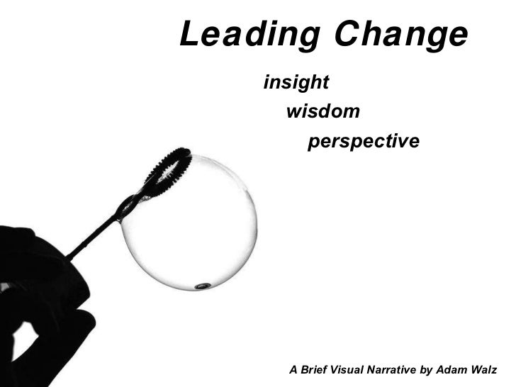 Leading Change   insight wisdom perspective A Brief Visual Narrative by Adam Walz
