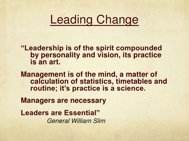 the affect of change in leadership How leadership matters: the effects of leaders' alignment on strategy implementation such change often blurs the two processes.