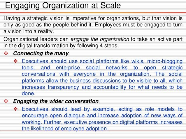 Governing the Transformation  While vision & engagement are important components to leadership capabilities, digital gove...