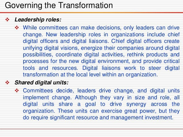 • New ways of working • Rethinking infrastructure / replatforming IT Business Relationship Digital Platform Digital Skills...